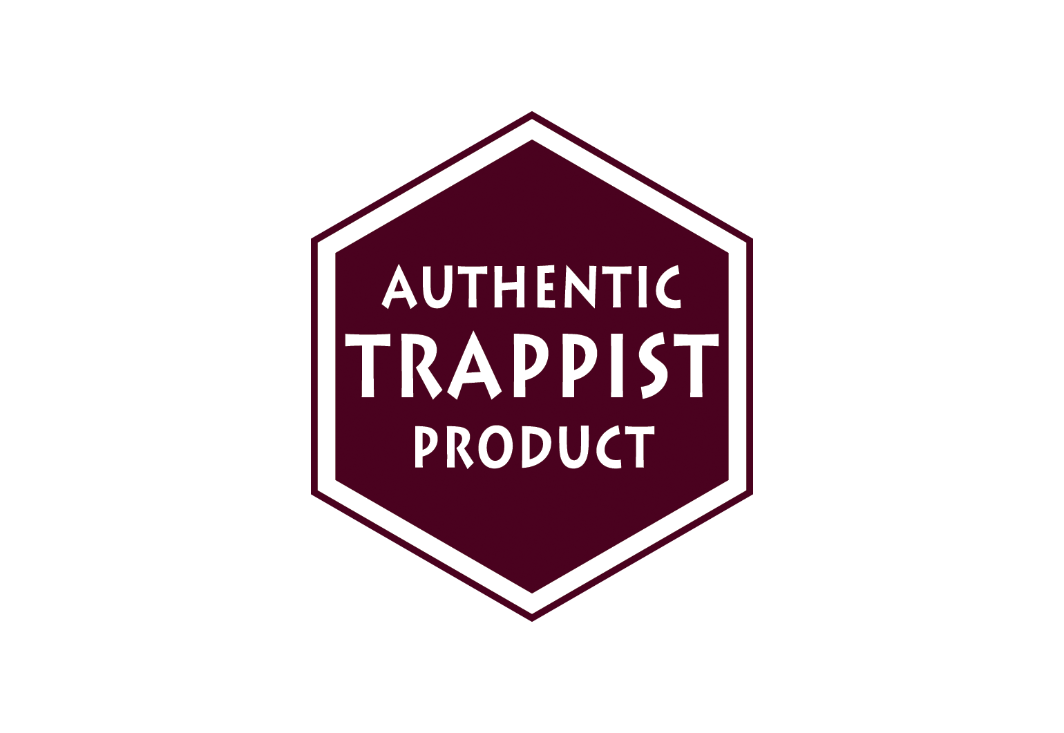 Zeshoekig 'Authentic Trappist Product' logo